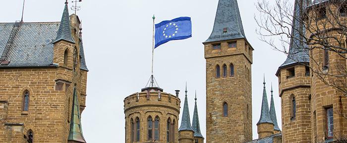Eu Austritt Grossbritanniens Burg Zeigt Flagge Fur Europa Burg Hohenzollern