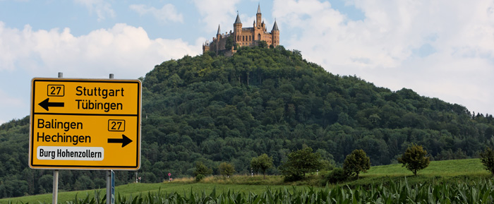 Your Way To The Castle Burg Hohenzollern En
